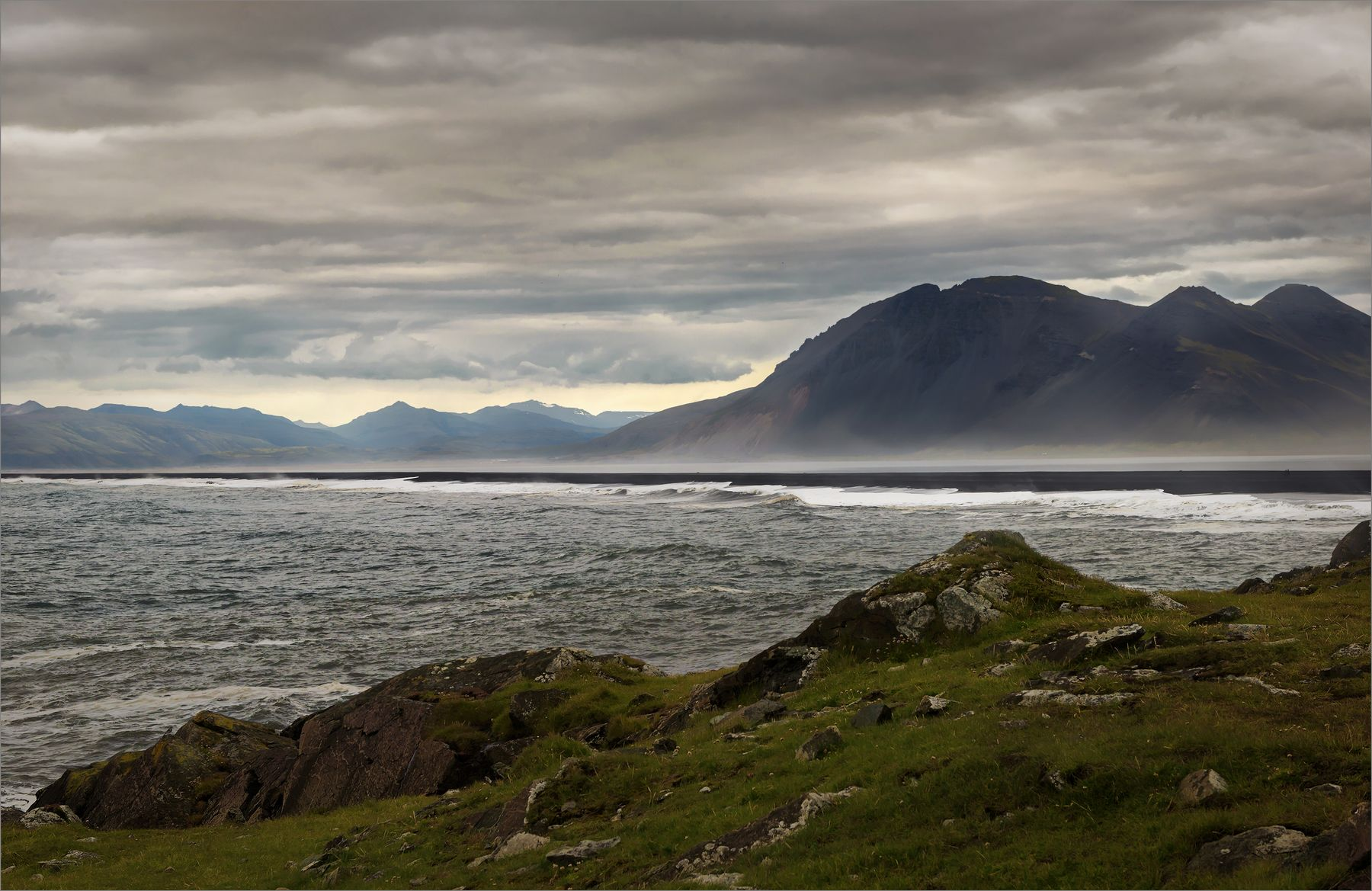 Западное побережье Исландия океан побережье