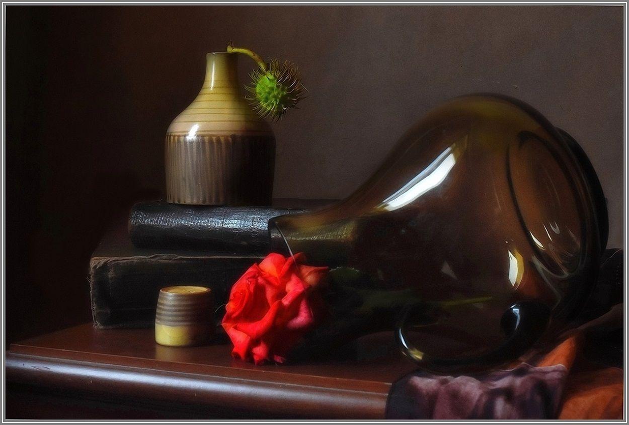 ..... Каштан и роза ..... предметы свет идея гармония композиция