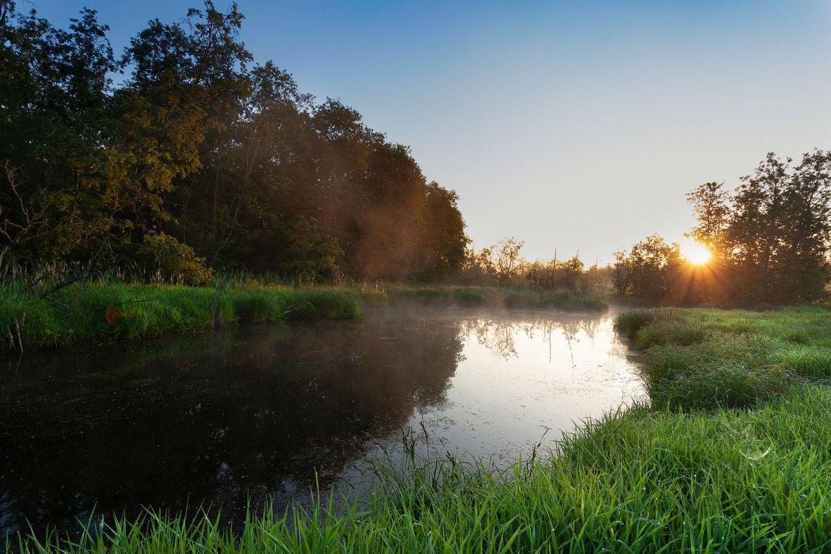 Рассвет на речке