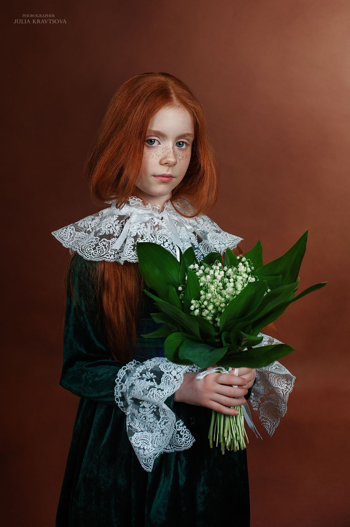 Екатерина II девочка рыжая портрет ландыши ретро стиль