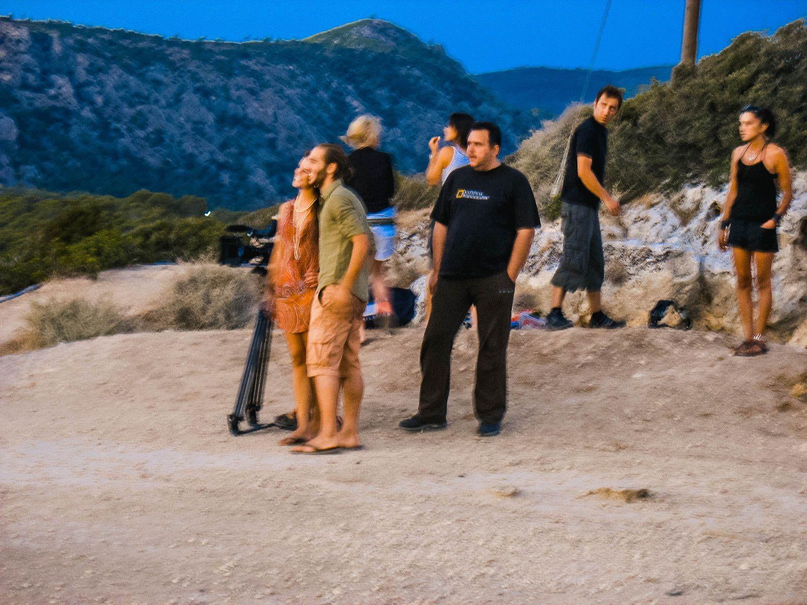 Съёмки какого-то клипа на берегу коринфского залива, Греция (16.07.2008)