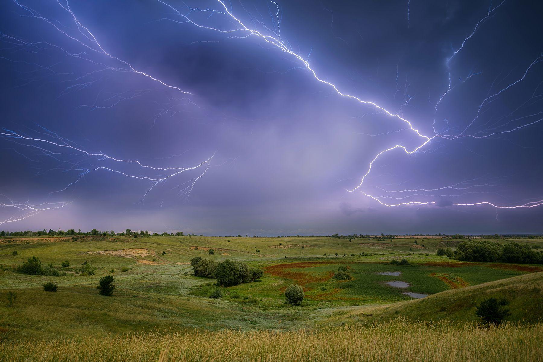*** пейзаж природа молния