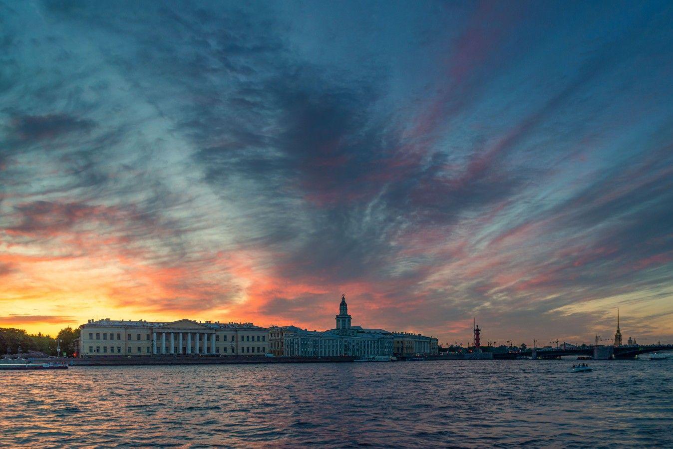 Июньский питерский закат петербург июнь белые ночи закат нева небо