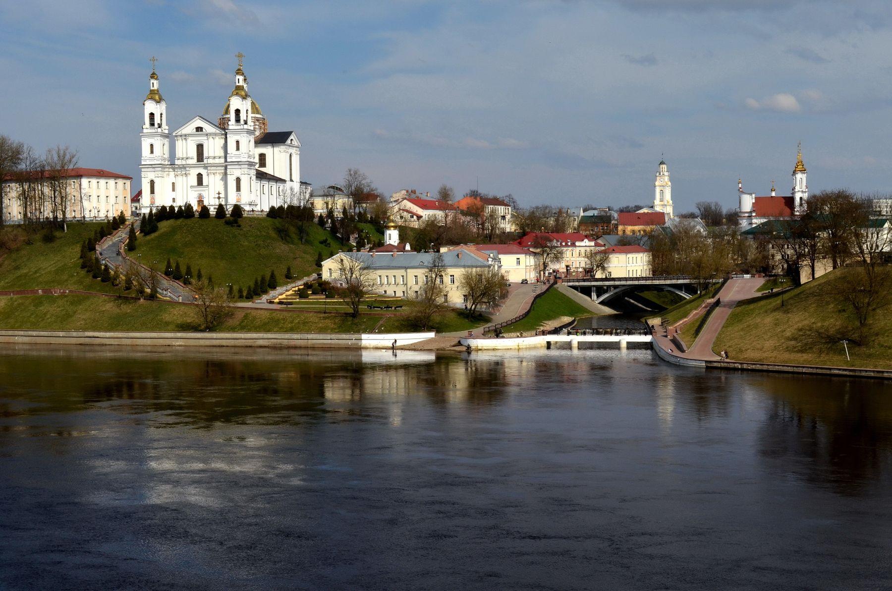 Устье реки Витьба. Город Витебск Витьба Западная Двина Даугава река архитектура устье реки