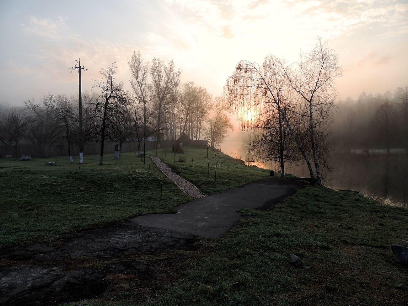 *** пейзаж природа река рассвет