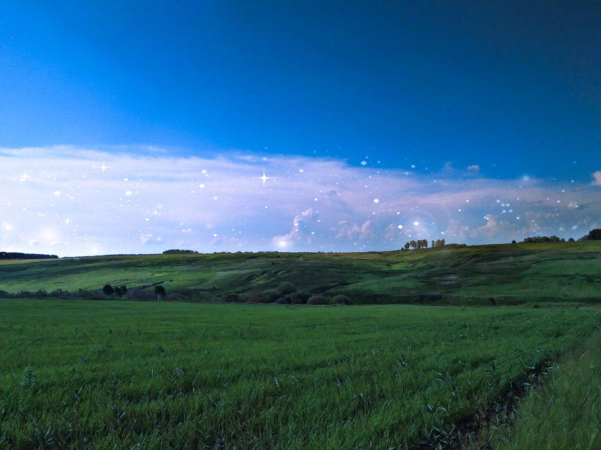 """""""Wonderland"""" поле чудес ландшафт природа облака россыпь притаившихся звёзд"""