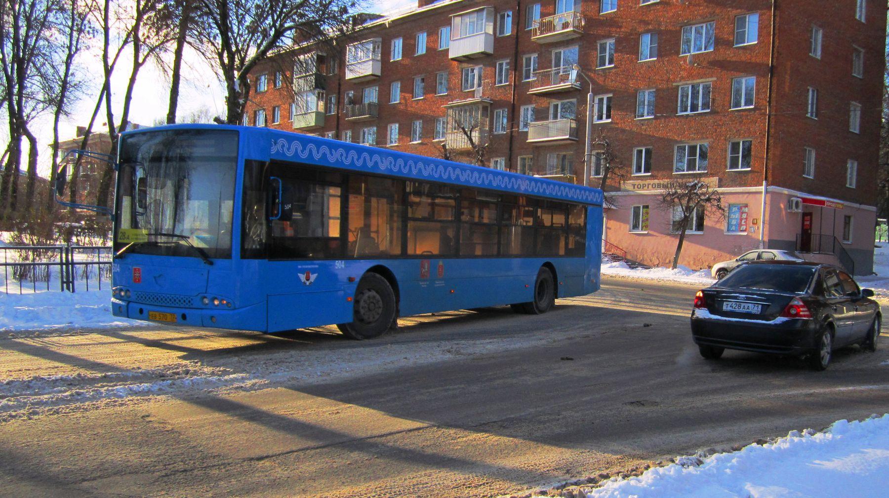 504 Автобус улица город зима