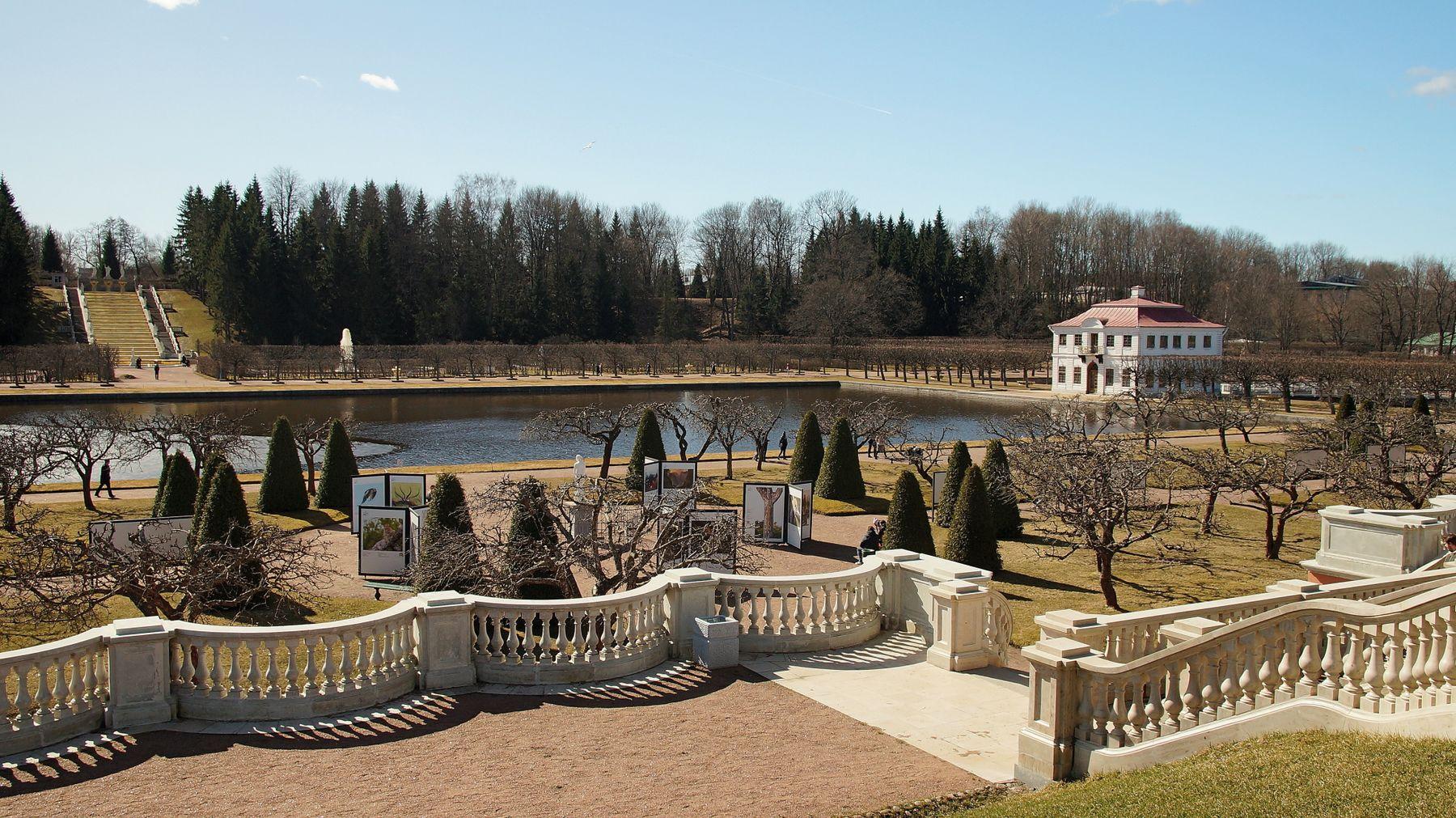 Гуляем в Нижнем парке Петергофа Петергоф нижний парк дворец Марли весна