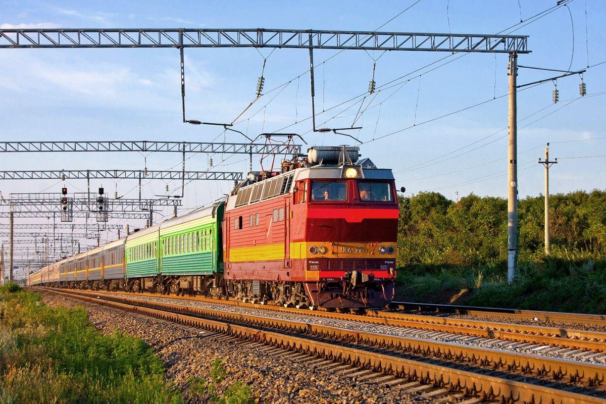ЧС4Т-719 Электровоз ЧС4Т ЧС4Т-719 Поезд Ростовская Область Не Ню