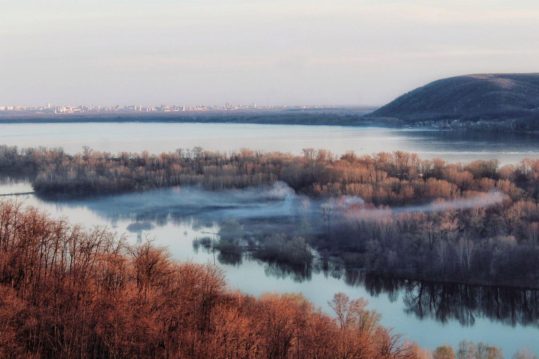 Осенняя пора пейзаж природа nature canon горы Волга осень