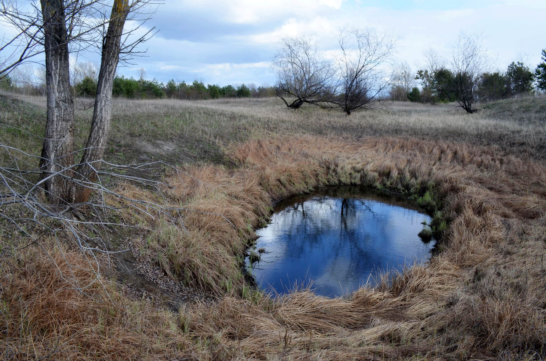 *** весна озеро небо облака