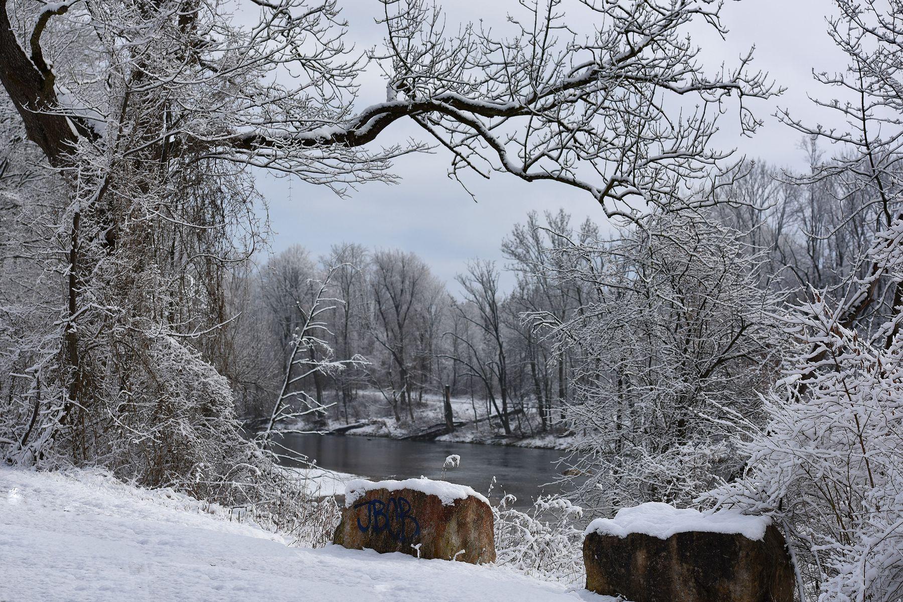 ЪЪ утро река снег