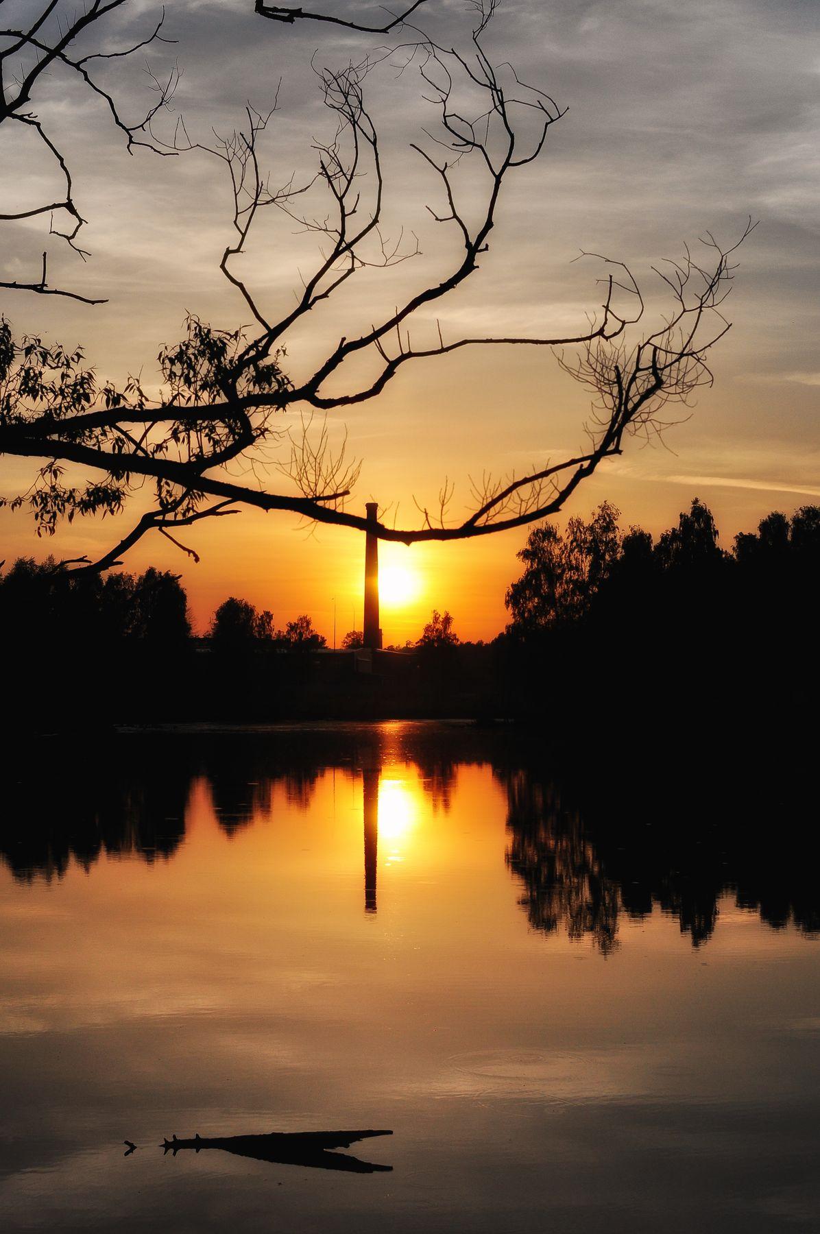 Закат на Клязьме Клязьма закат