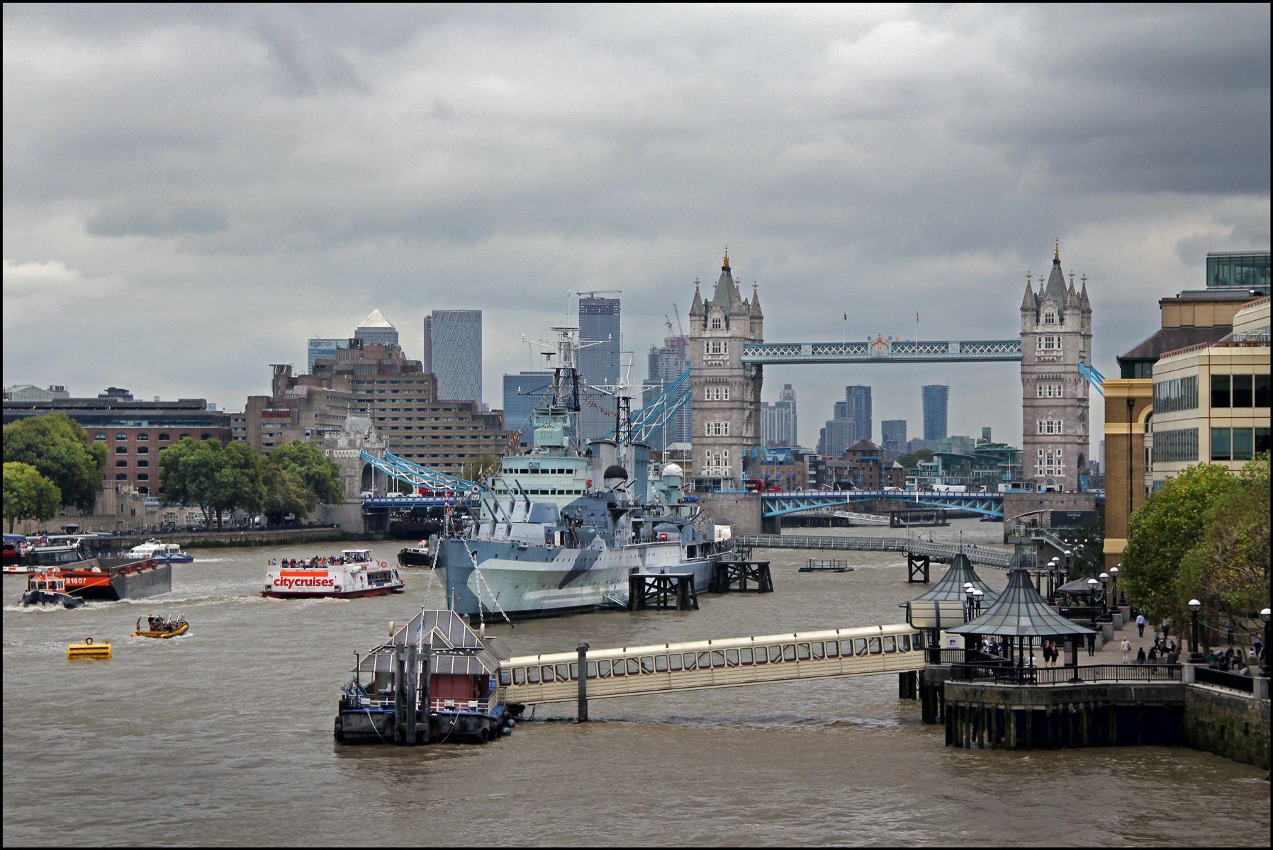 Лондон. Тауэрский мост_2 Лондон Тауэрский мост р.Темза символ Лондона и Британии