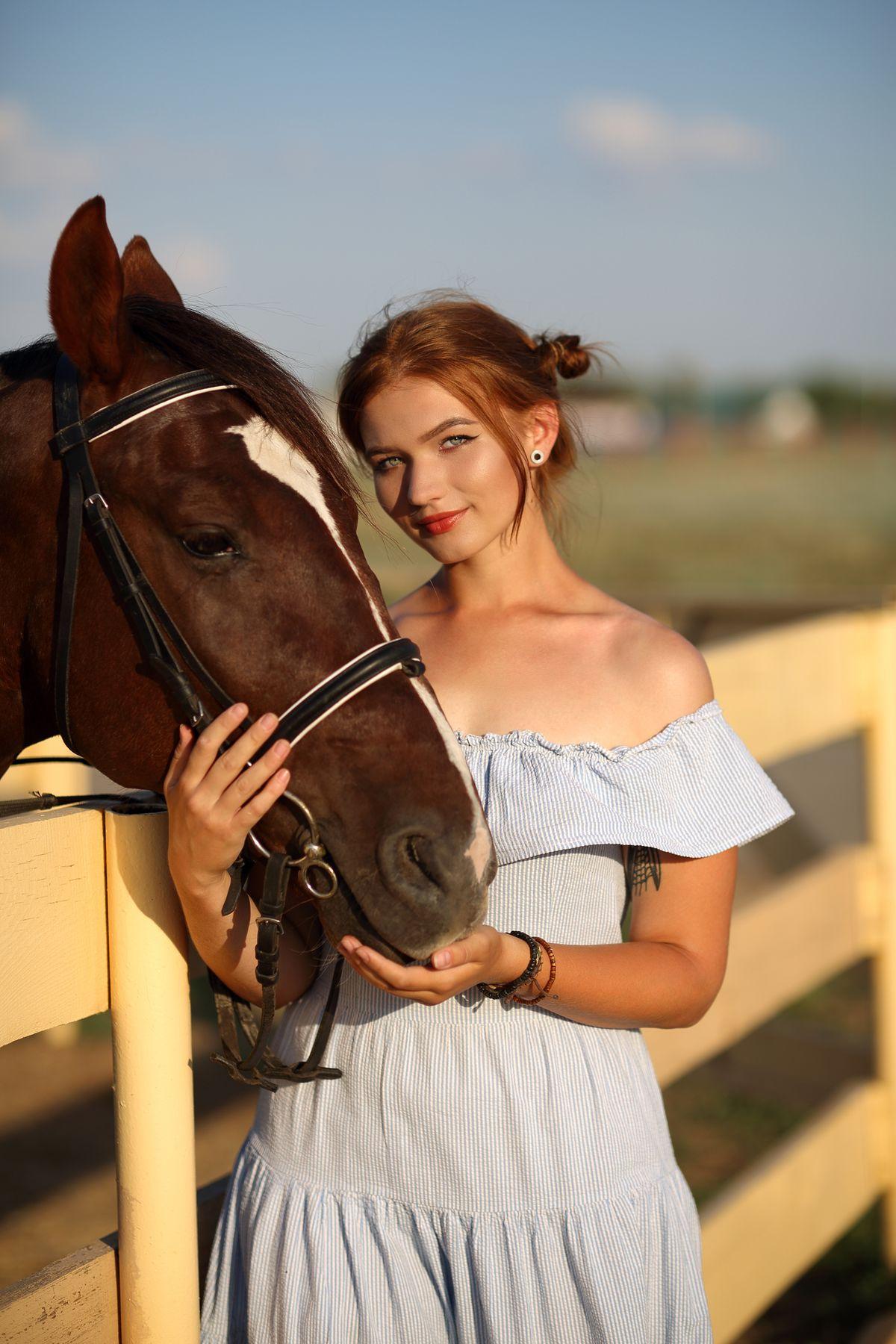 Анна портрет девушка модель