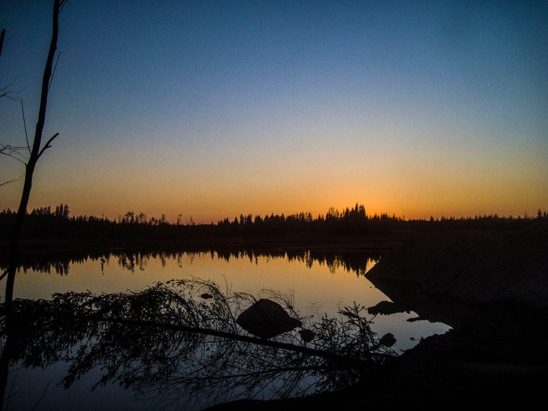 Закат на болоте закат красивый