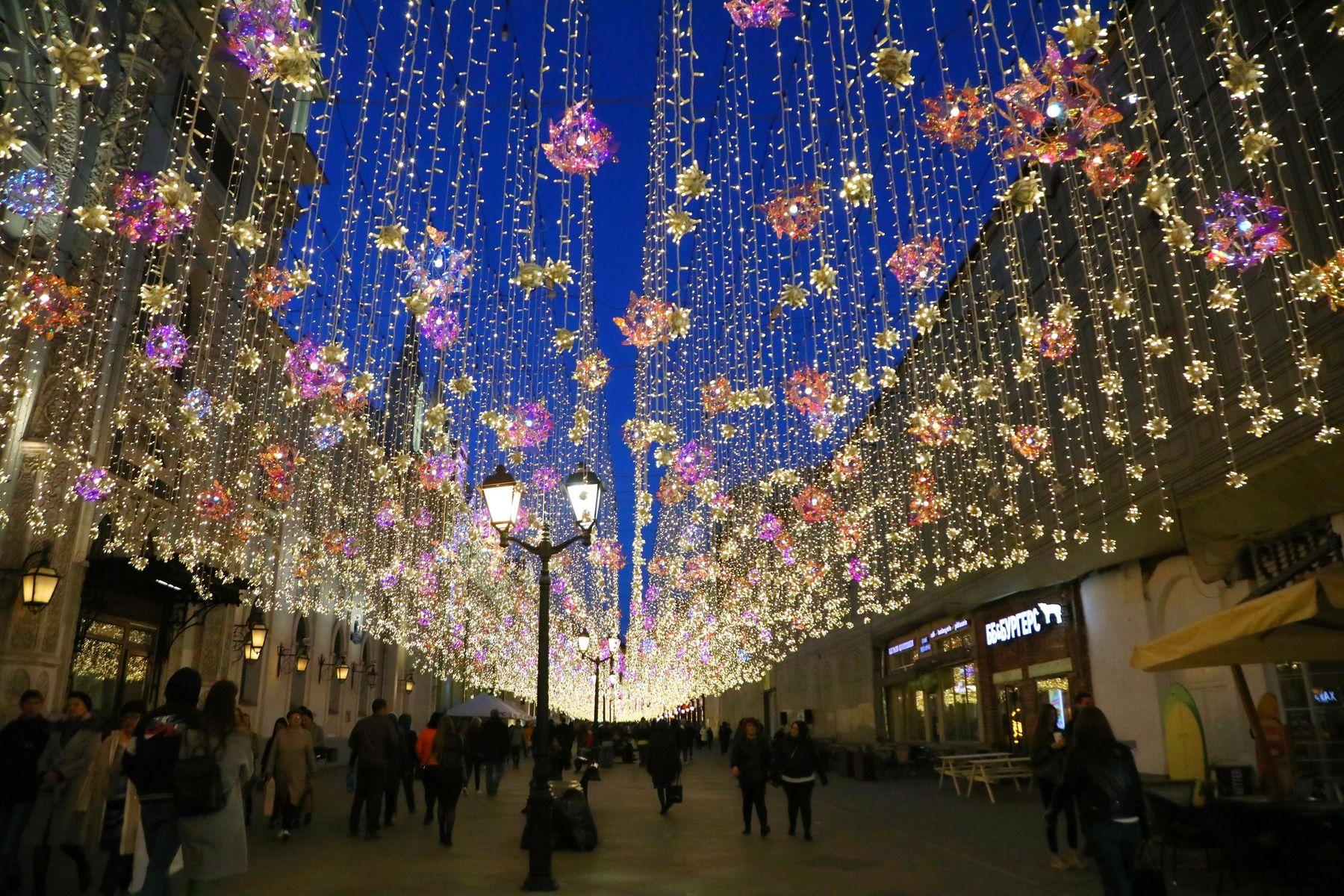 Москва в убранстве новогоднем Москва в убранстве новогоднем