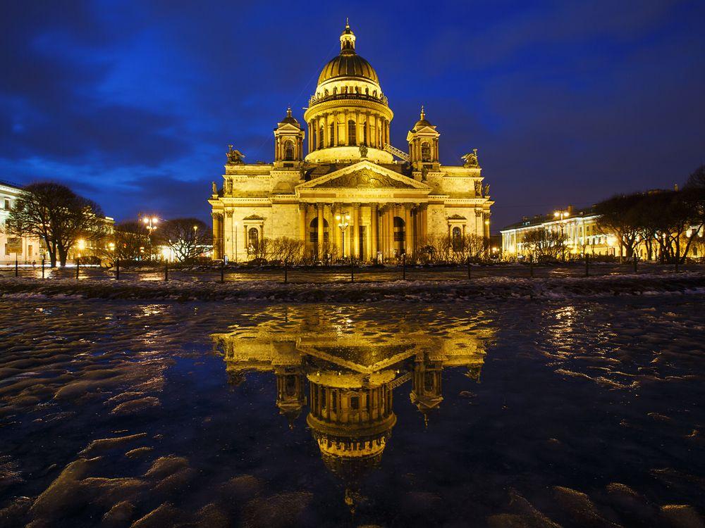 Ленинград выстоял и победил! Исаакиевский собор Санкт-Петербург зима