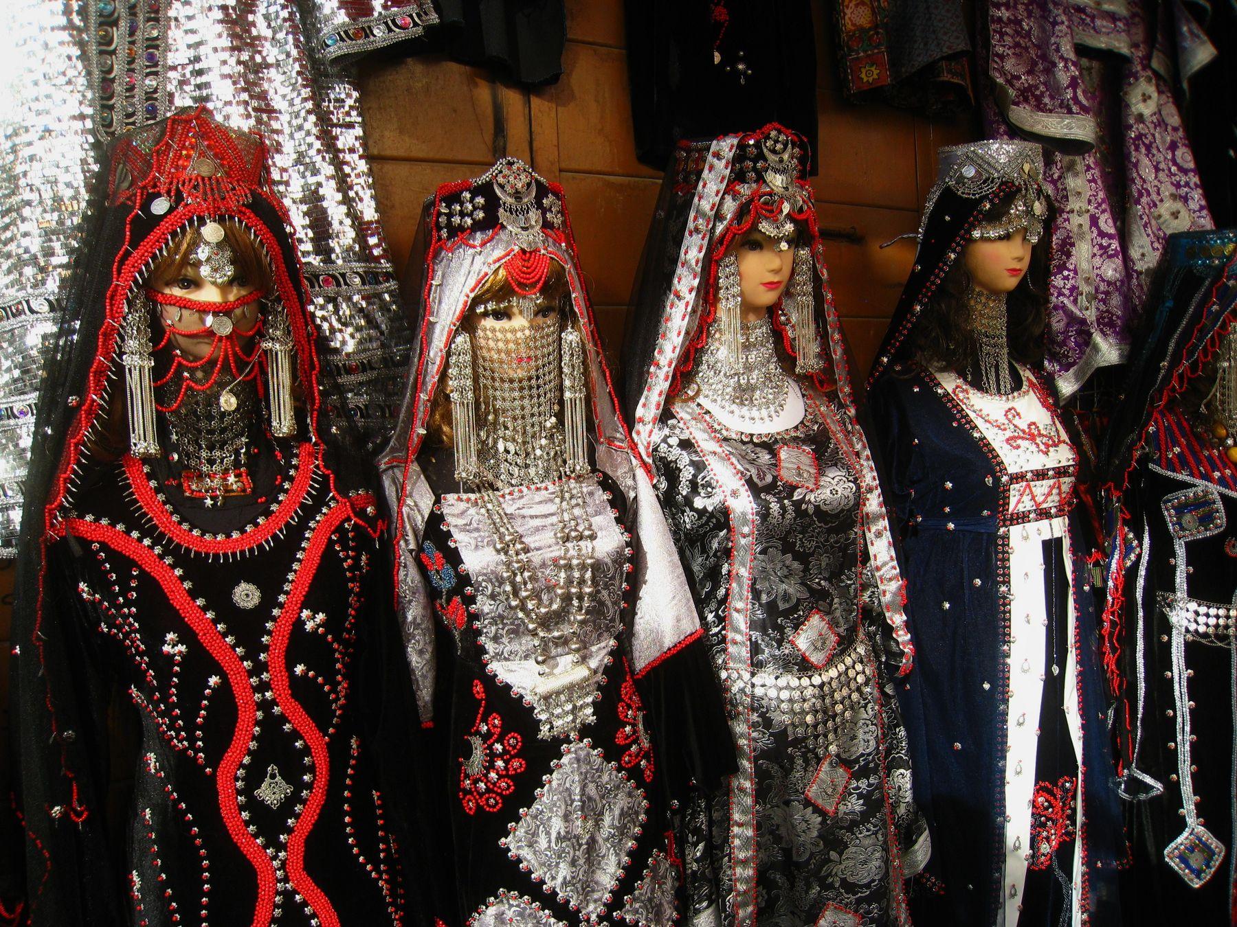 Самые красивые женские наряды. Йемен вулкан кратер горы скалы