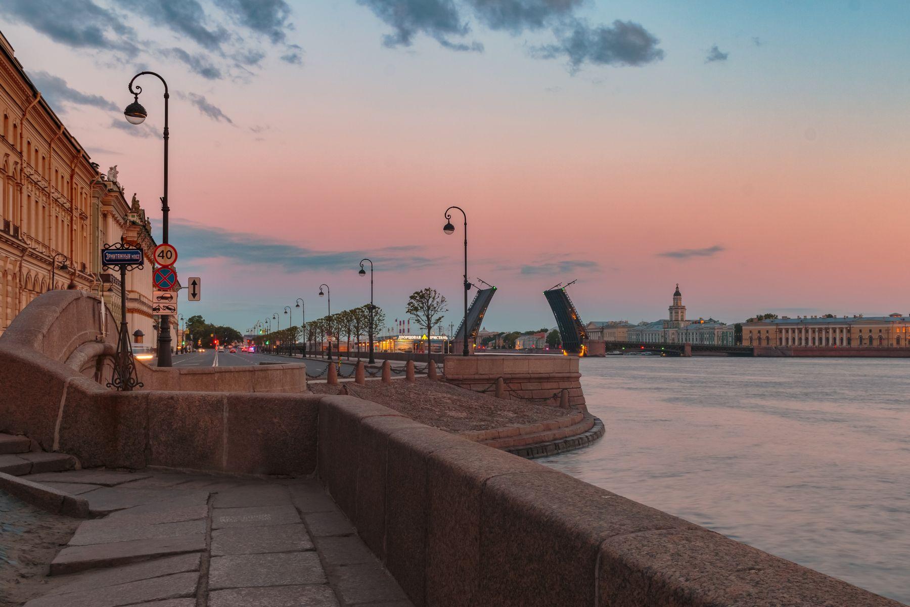 Утро на Первом Адмиралтейском (острове) Санкт-Петербург утро вода май небо мост Нева