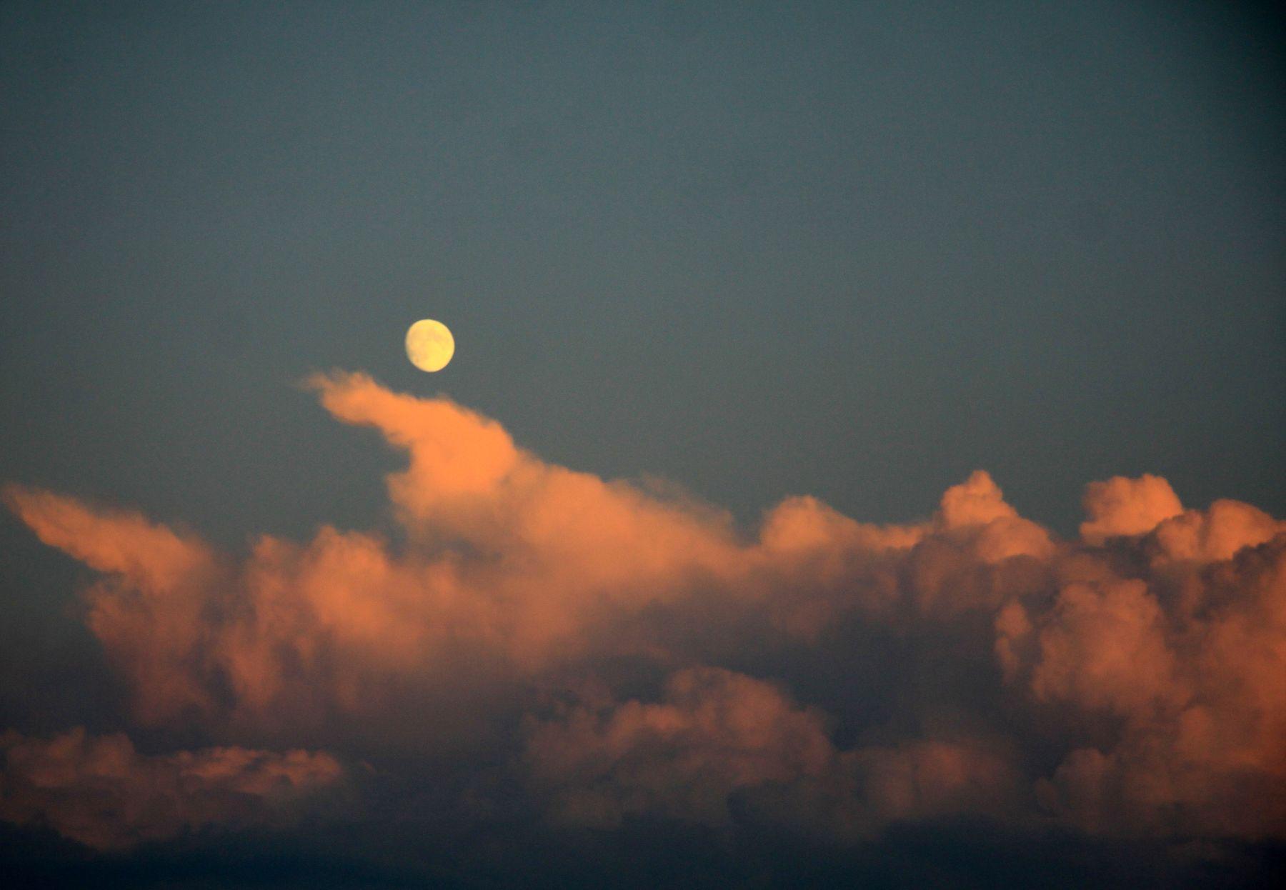 *** небо облако луна
