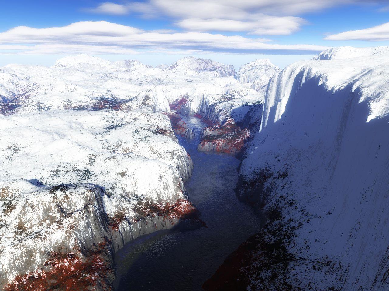 Цифровые фантазии на тему горной местности