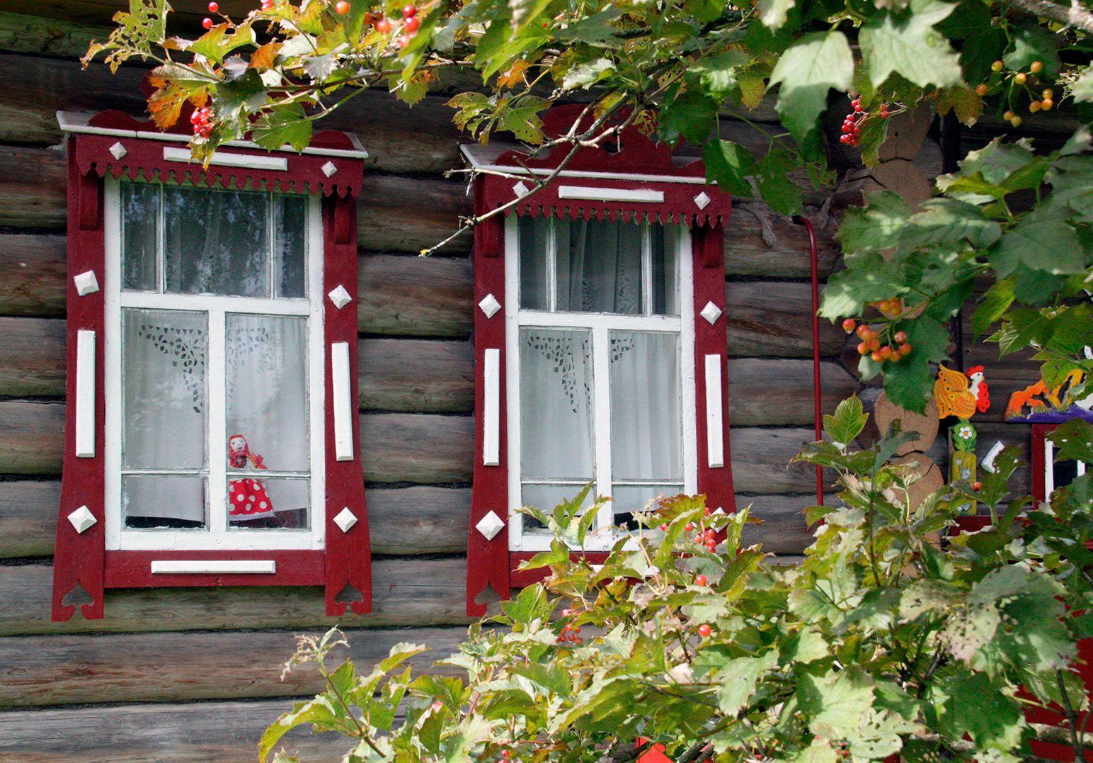 Зараменская прощальная... зараменье осень одиноко калина окна кукла