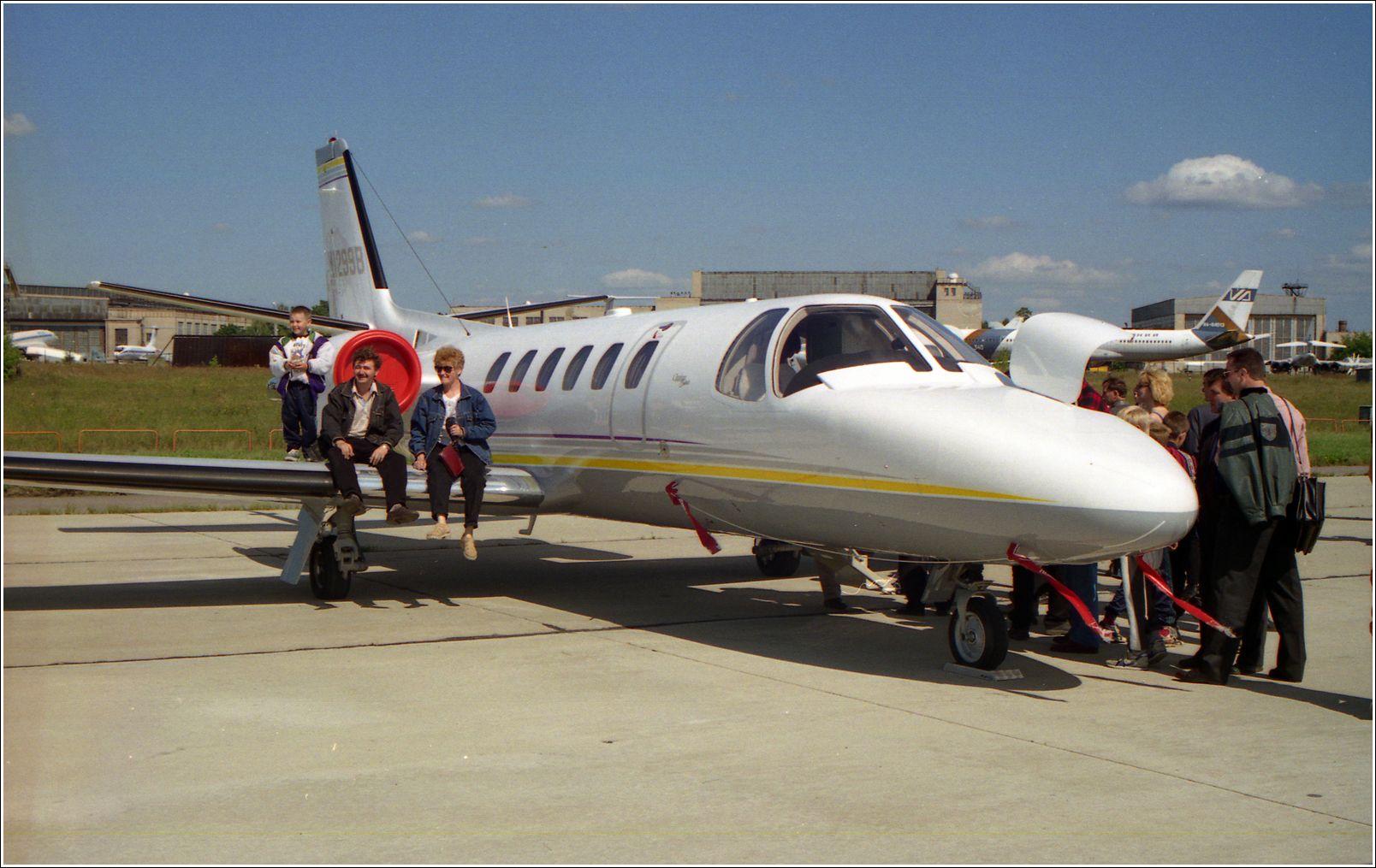 *** Бизнес-Джет самолент авиация стоянка Жуковский 1998