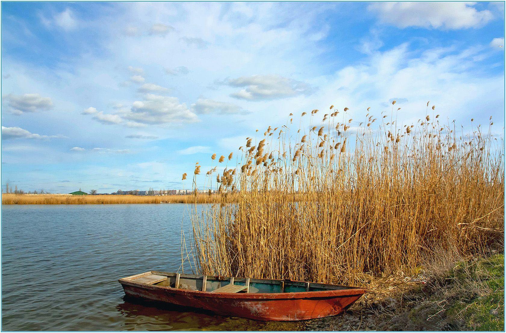 Ингульские заводи... Река Ингул берег небо