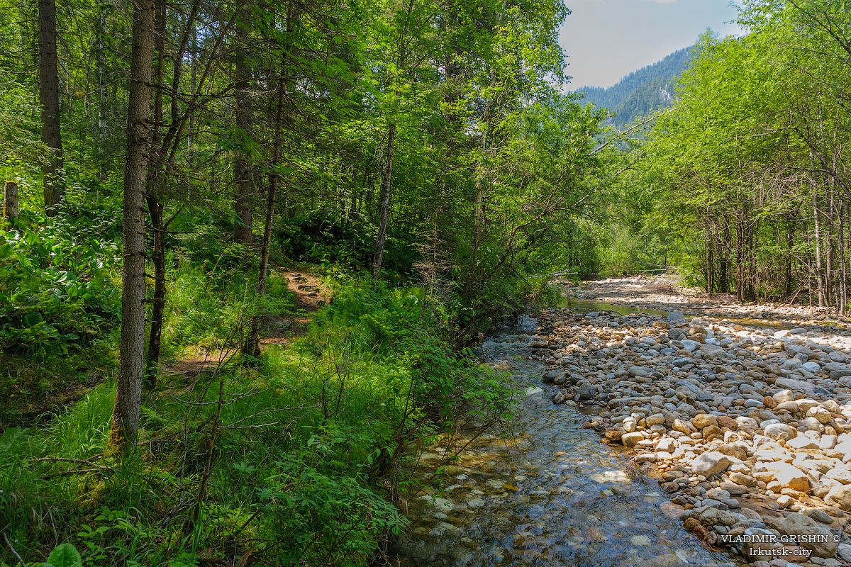 *** река Слюдянка летом