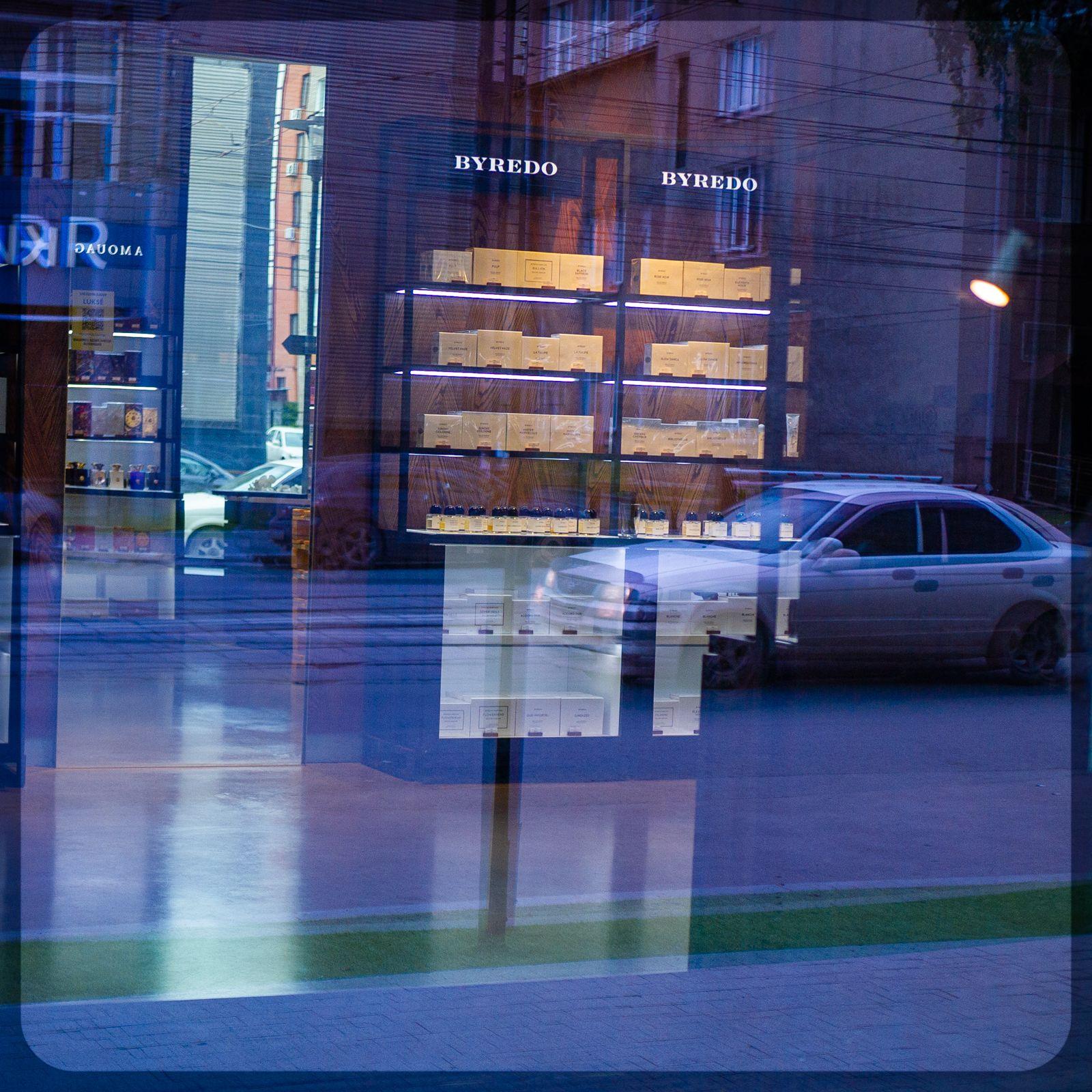 Отражения Отражения витрины город