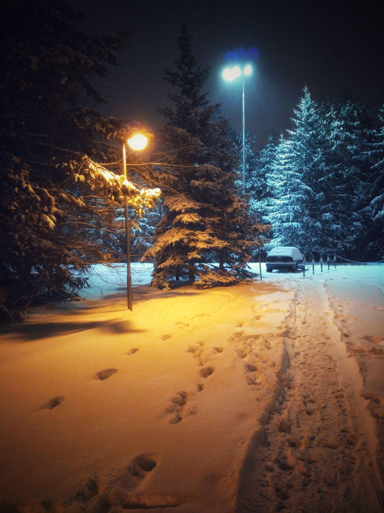 Вечерняя прогулка вечер прогулки зима снег