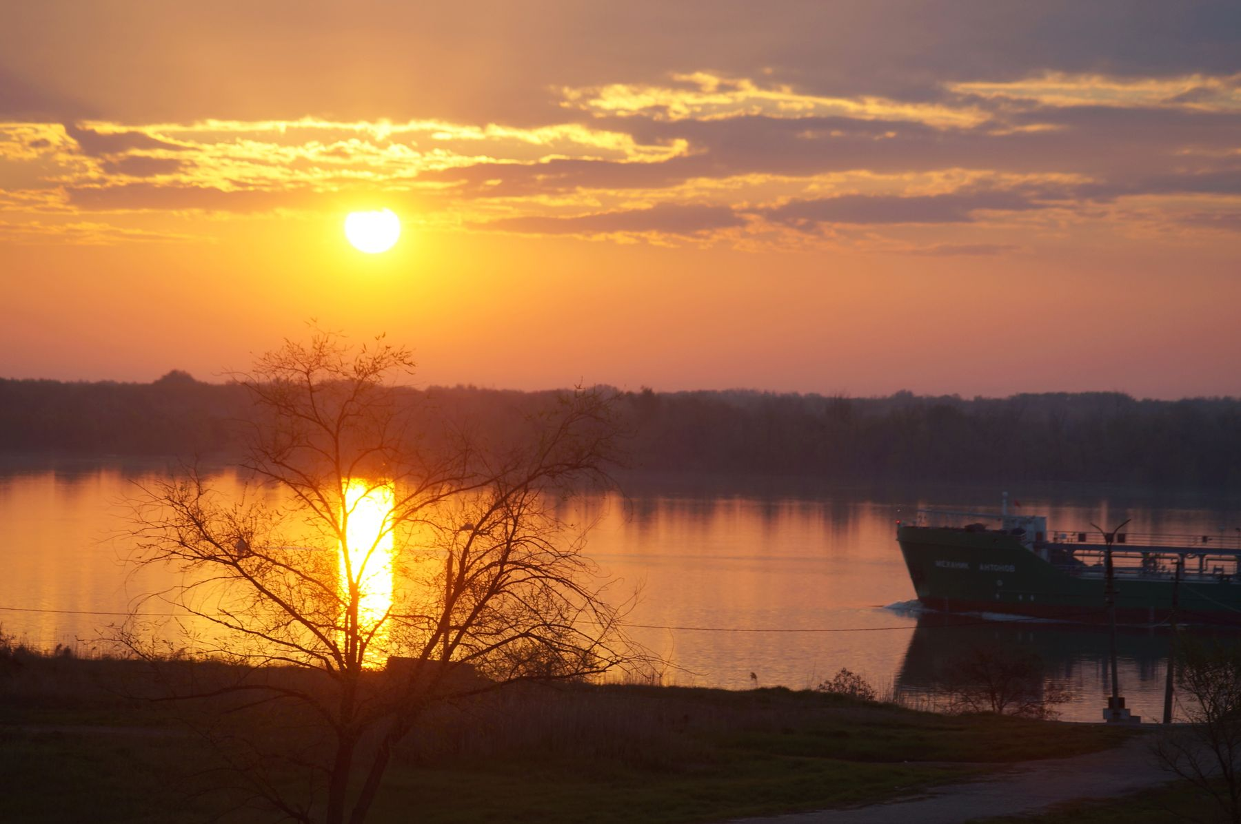 Майское утро на Волге Волгоград река утро весна