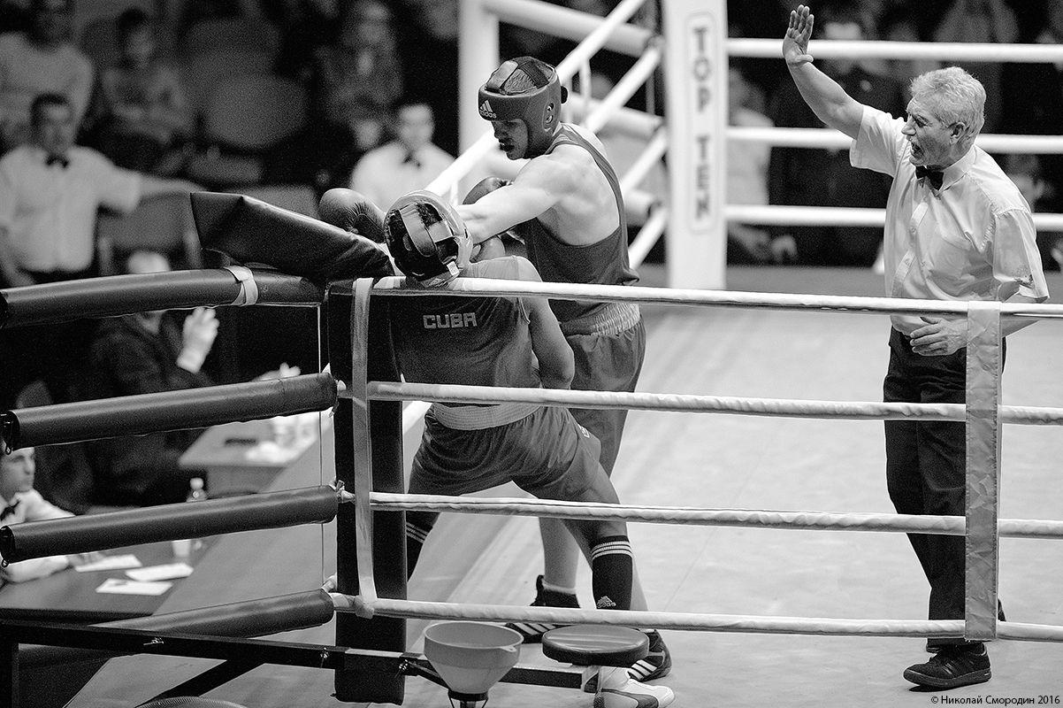 Товарищеская встреча по боксу молодежных сборных России и Кубы - 2016 год.