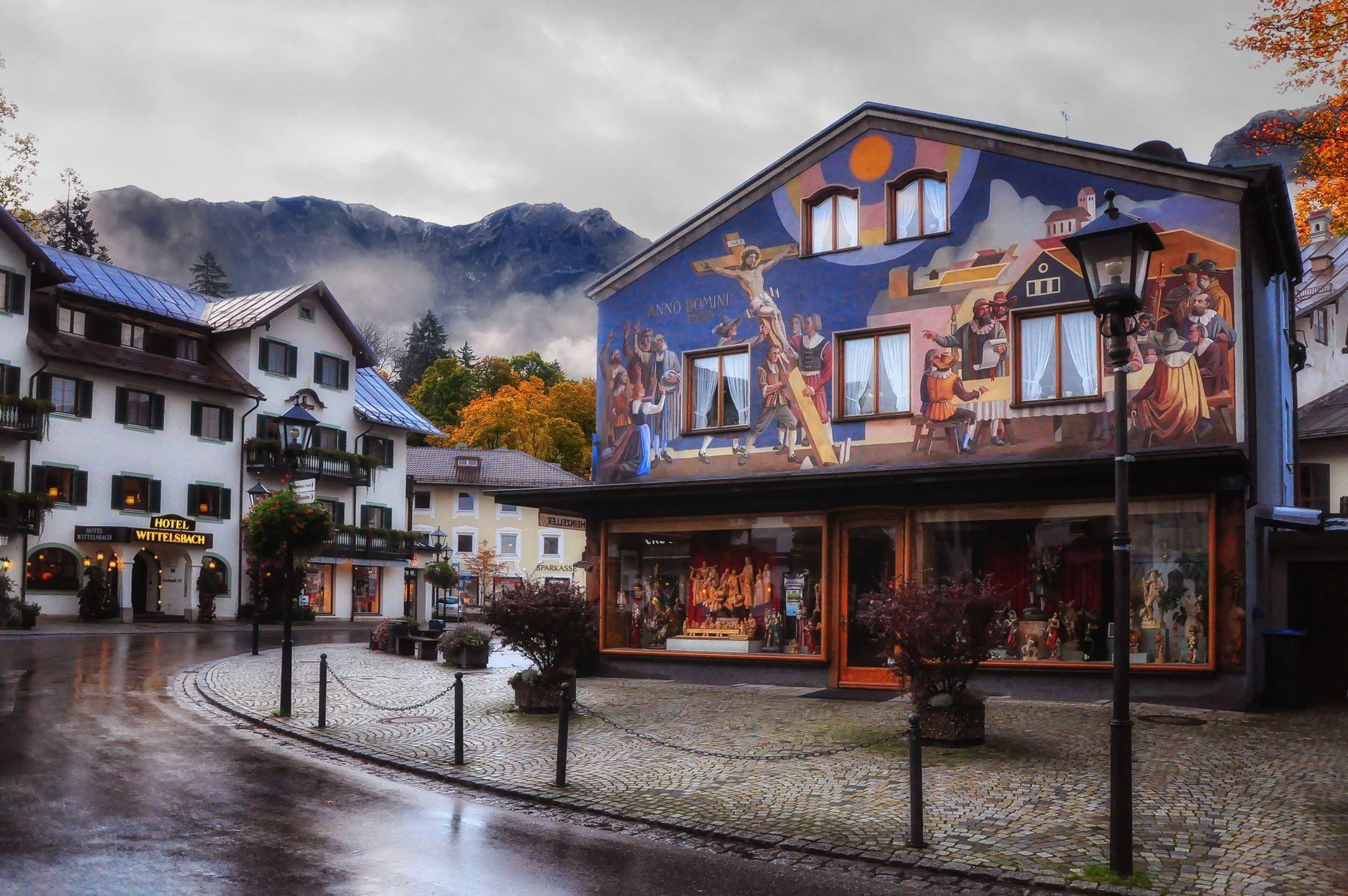 Расписные дома Баварии Альпы роспиь Бавария