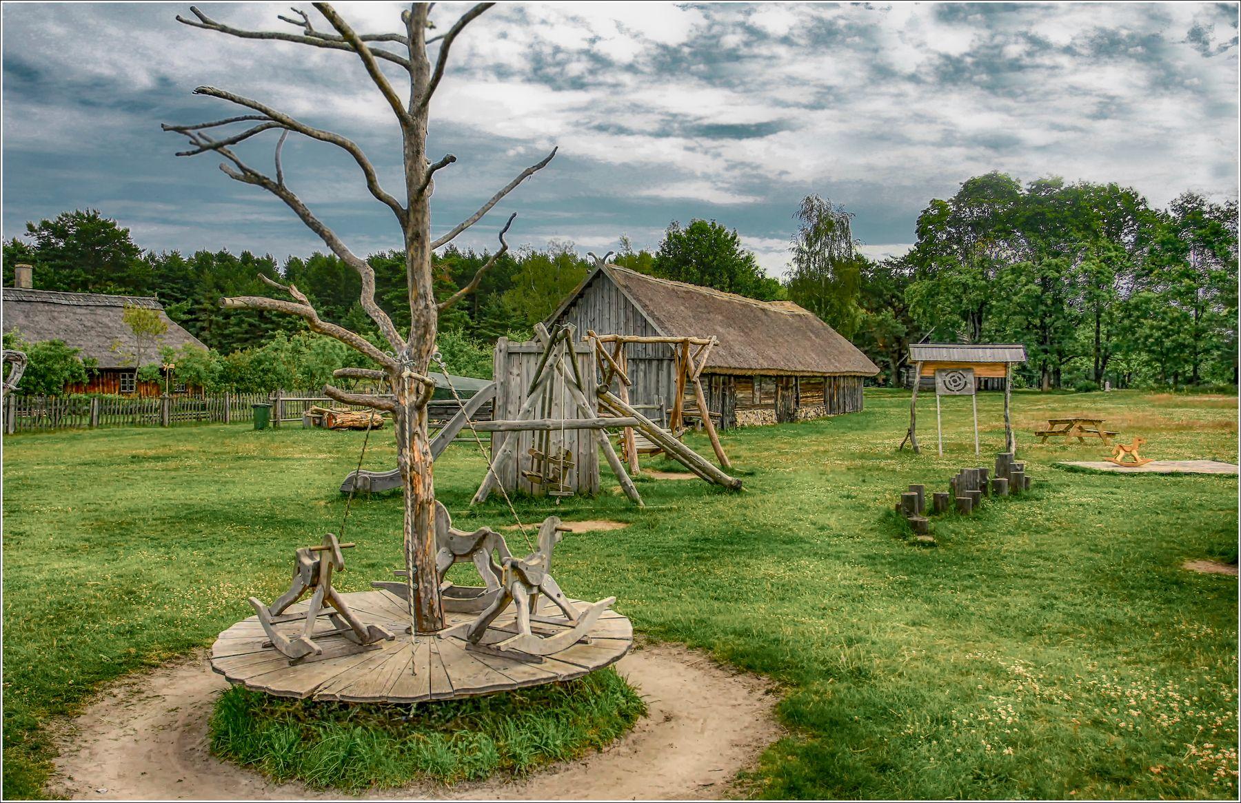 Детская площадка fitter36 музей этнография рига