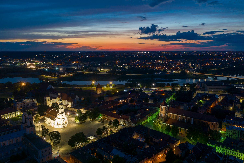 Белые ночи Kaunas DJI Mavic Pro Drone Lithuania Sunset HDR