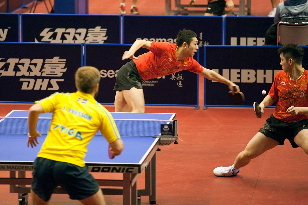 Мертвый мяч настольный теннис ittf worldtour xu xin fan zhendong