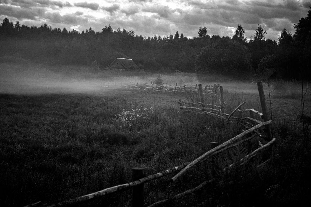 Тишина... черно-белое