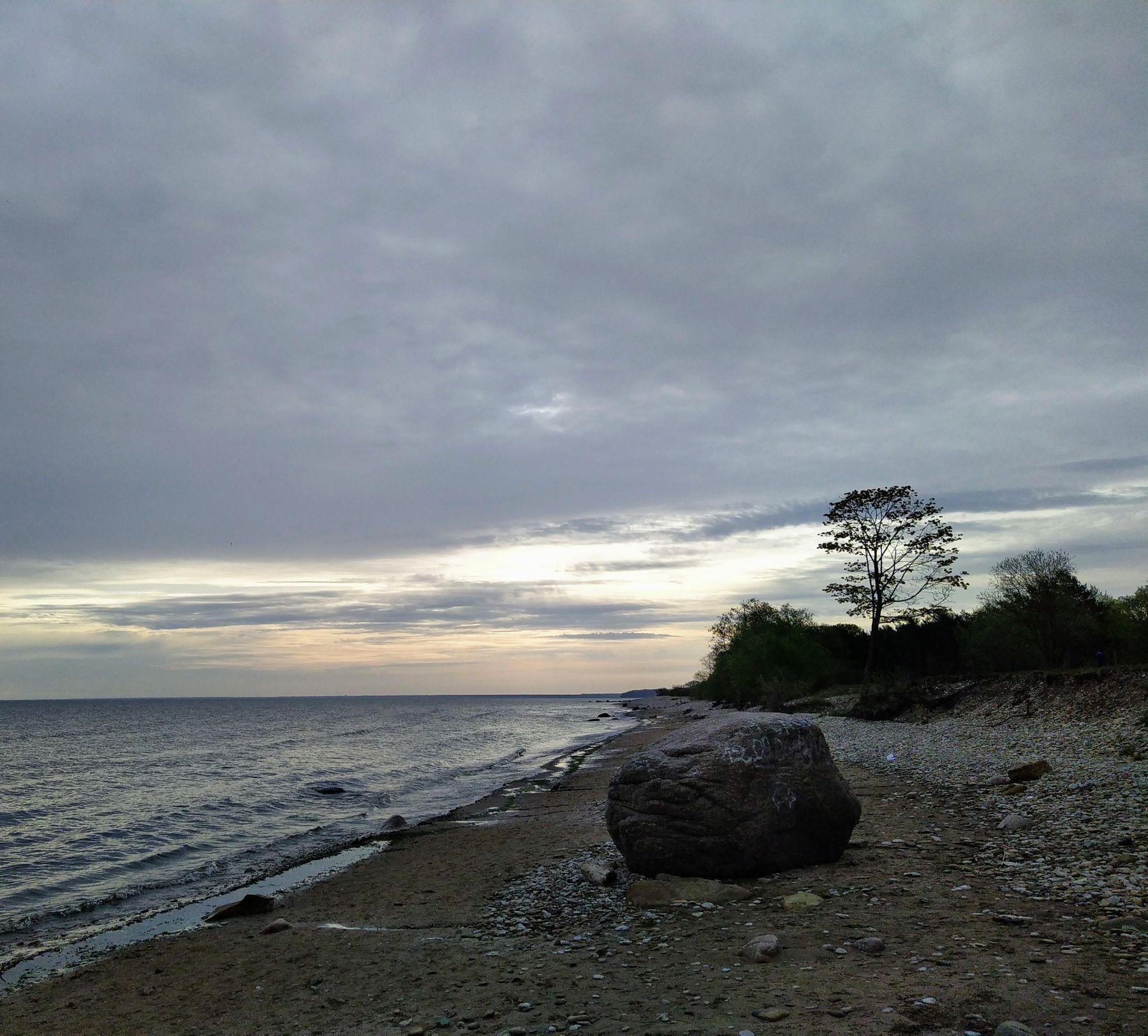 Берег Финского залива, Силламяэ, Эстония. Море