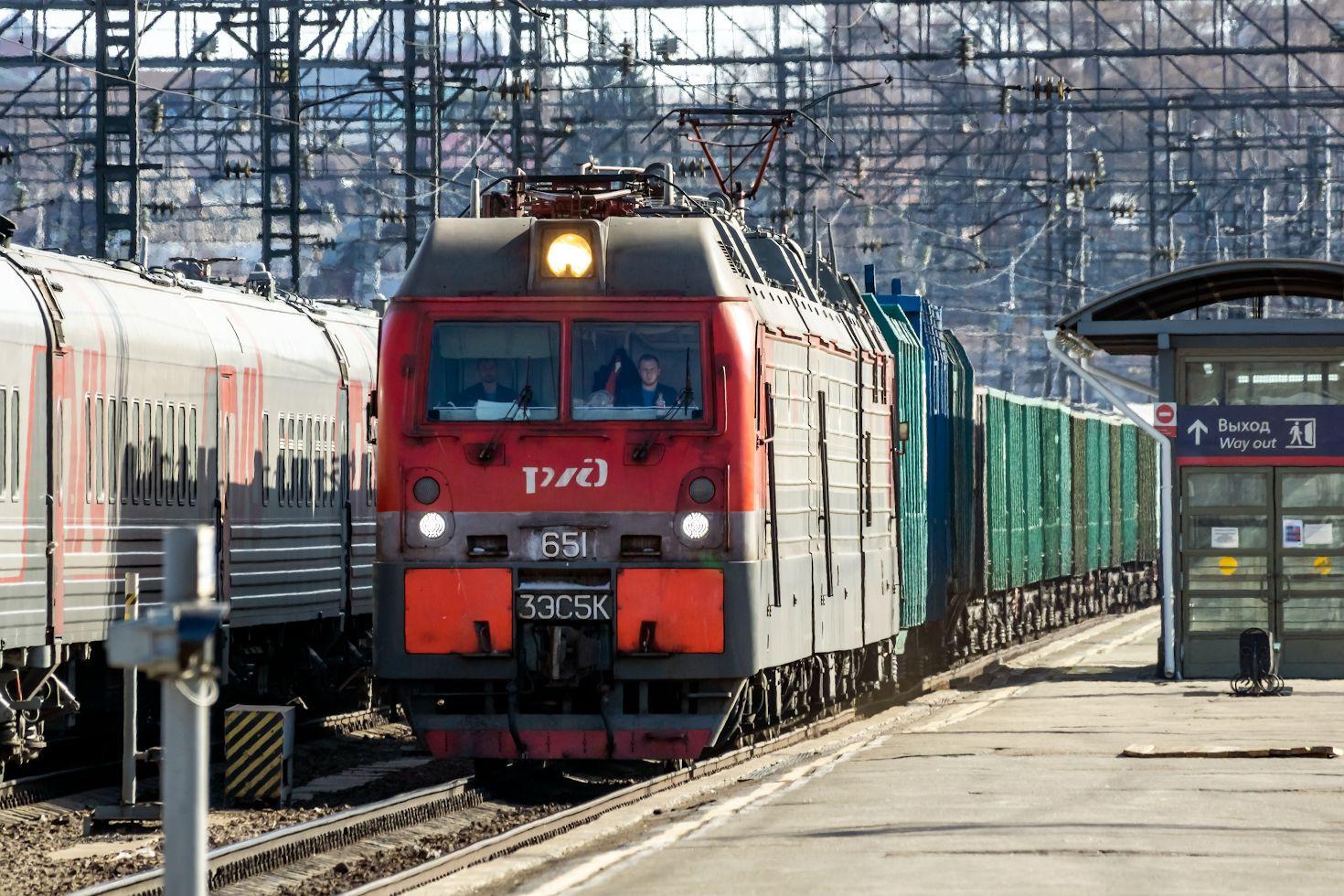 3ЭС5К-651 railway железная дорога locomotive локомотив электровоз поезд train Russia Siberia Irkutsk Россия Сибирь Иркутск споттинг spotting