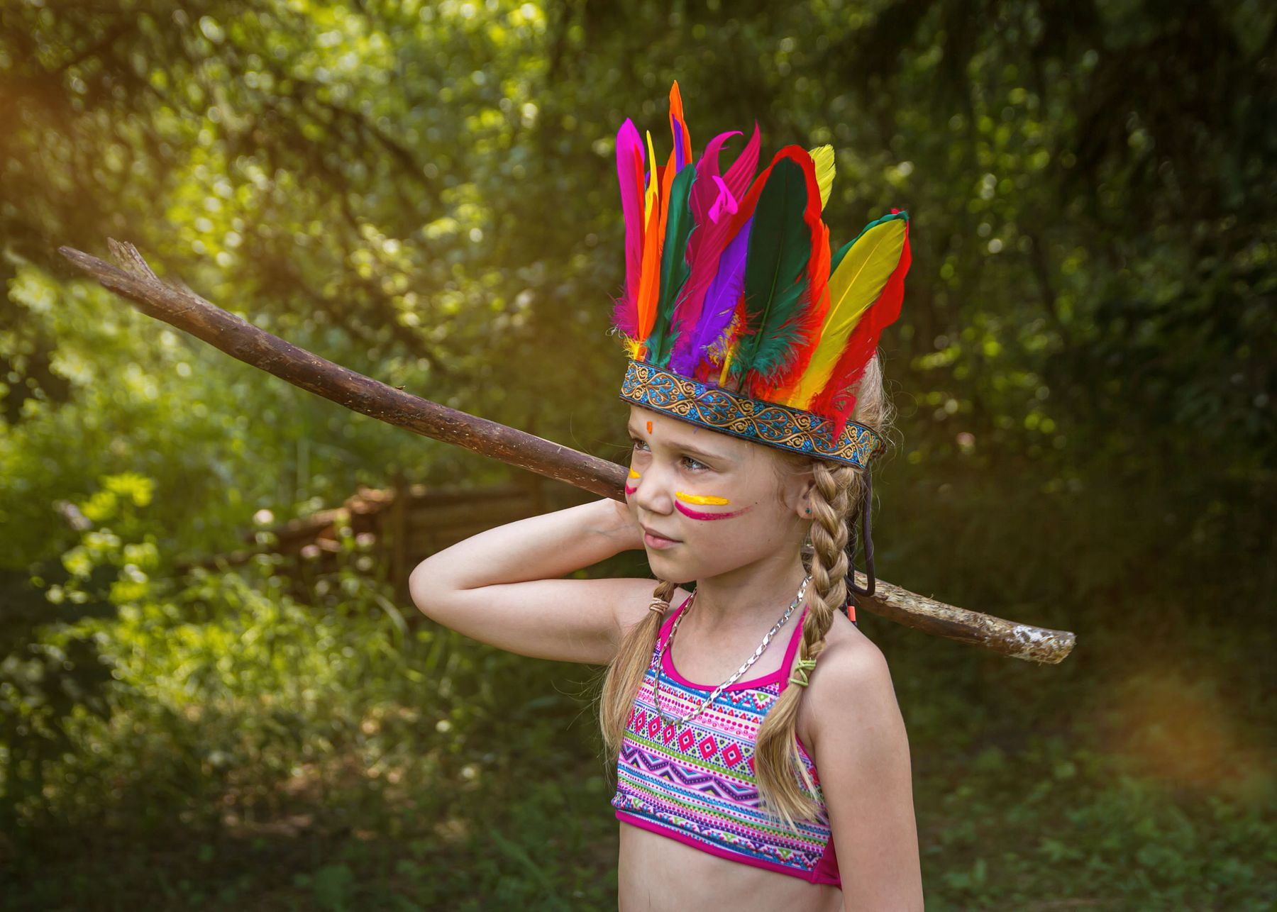 Индейцы в деревне2)