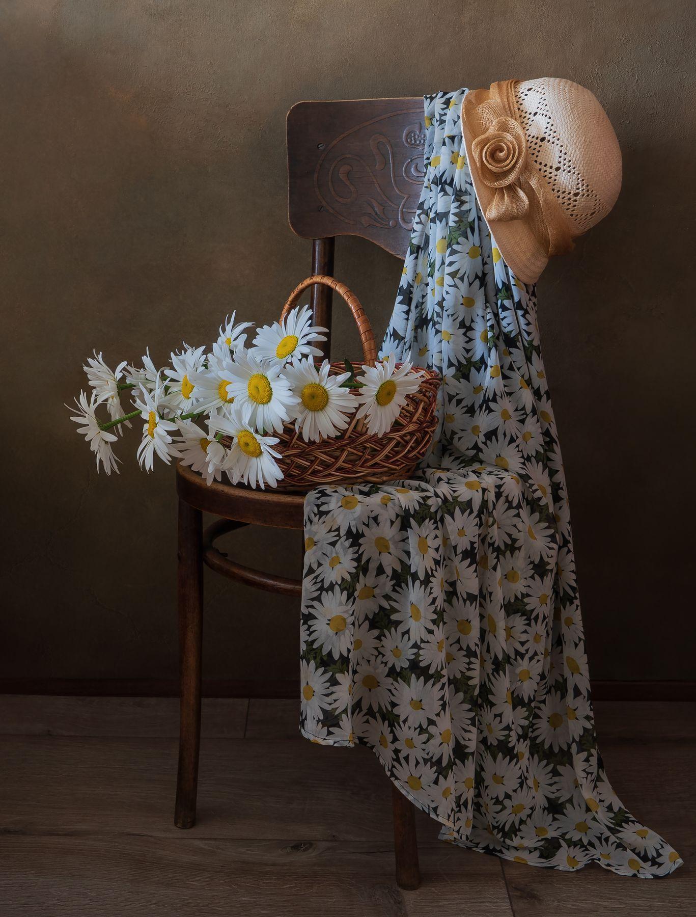 Ромашки и ромашковое платье.