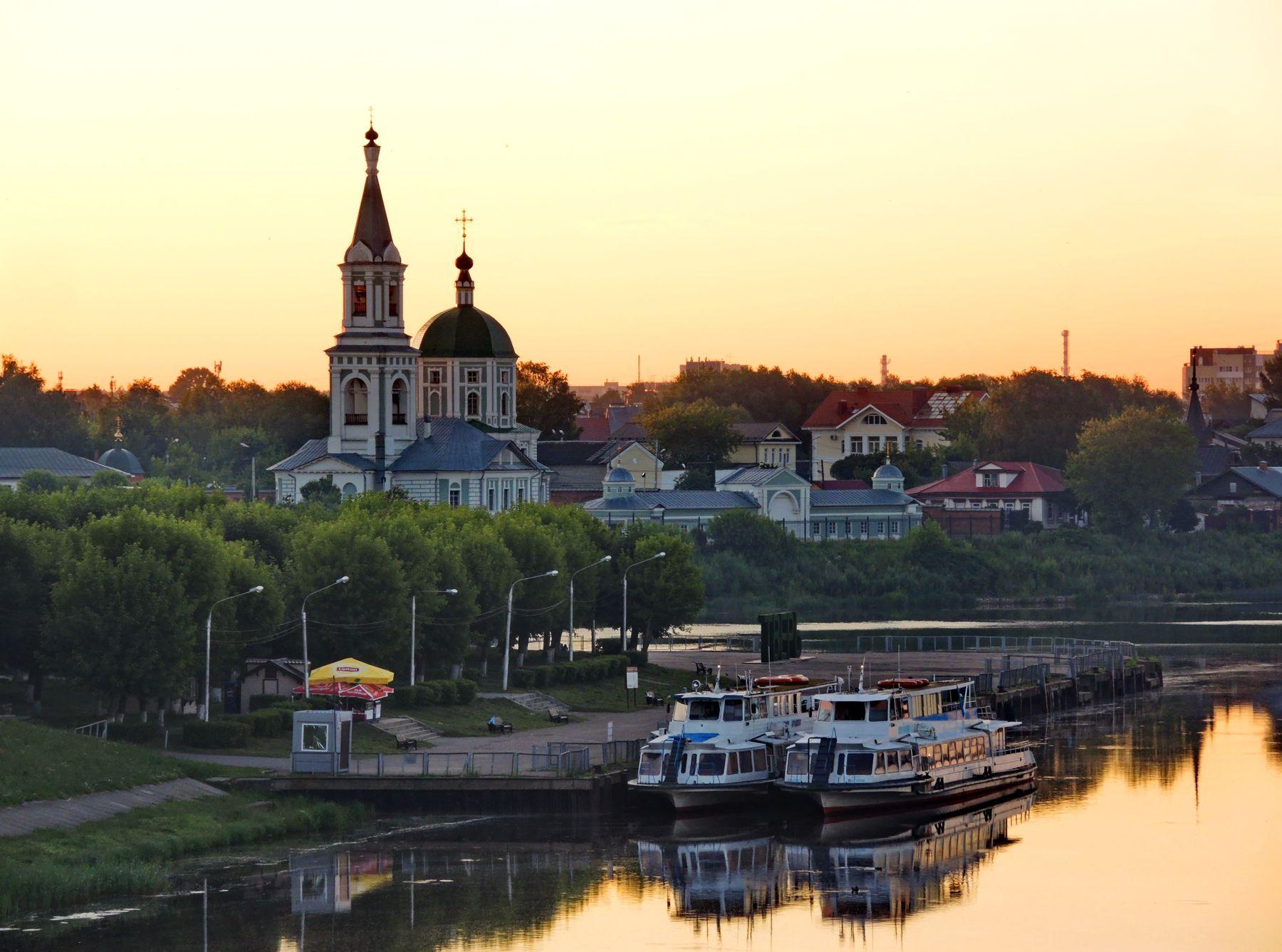 Причал Тверь Волга причал Россия
