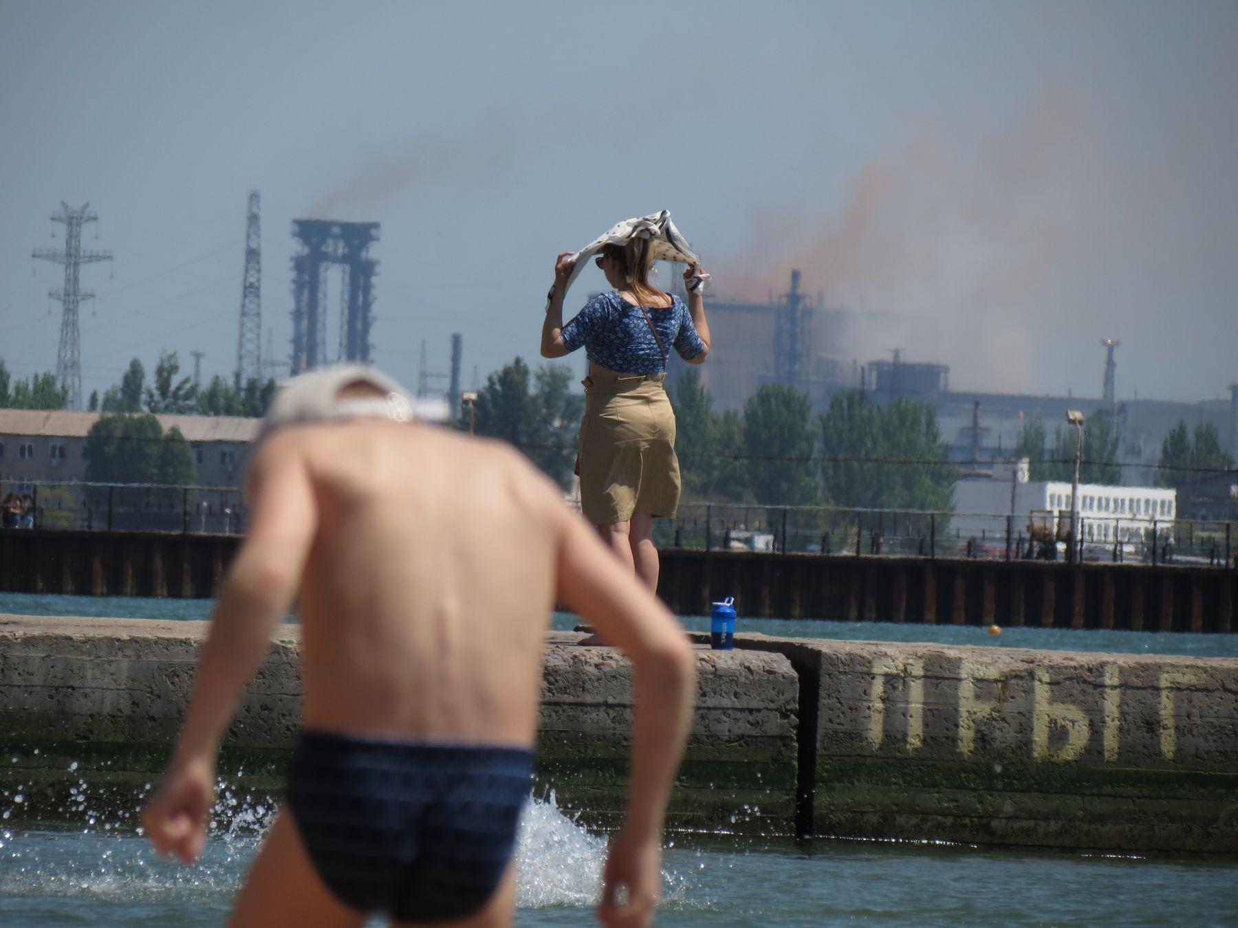 Донбасс. курорт в 20 км от фронта