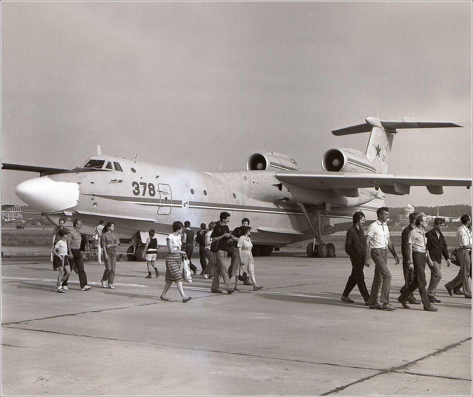 А-40 (1992 год) А-40 авиация самолет стоянка Жуковский 1992 год