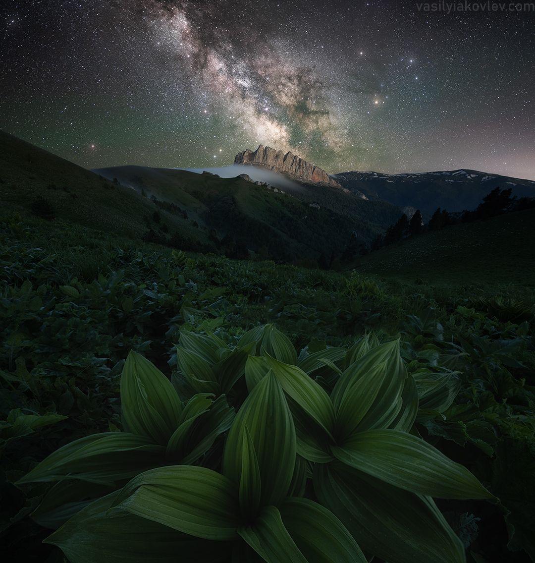 Южная ночь большой тхач фототур яковлевфототур адыгея кавказ ачешбок