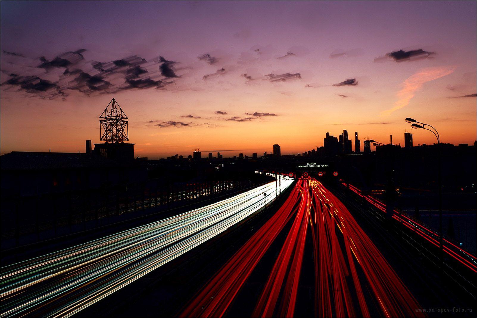 МЦК - Андреевский мост мцк мост фризлайт закат