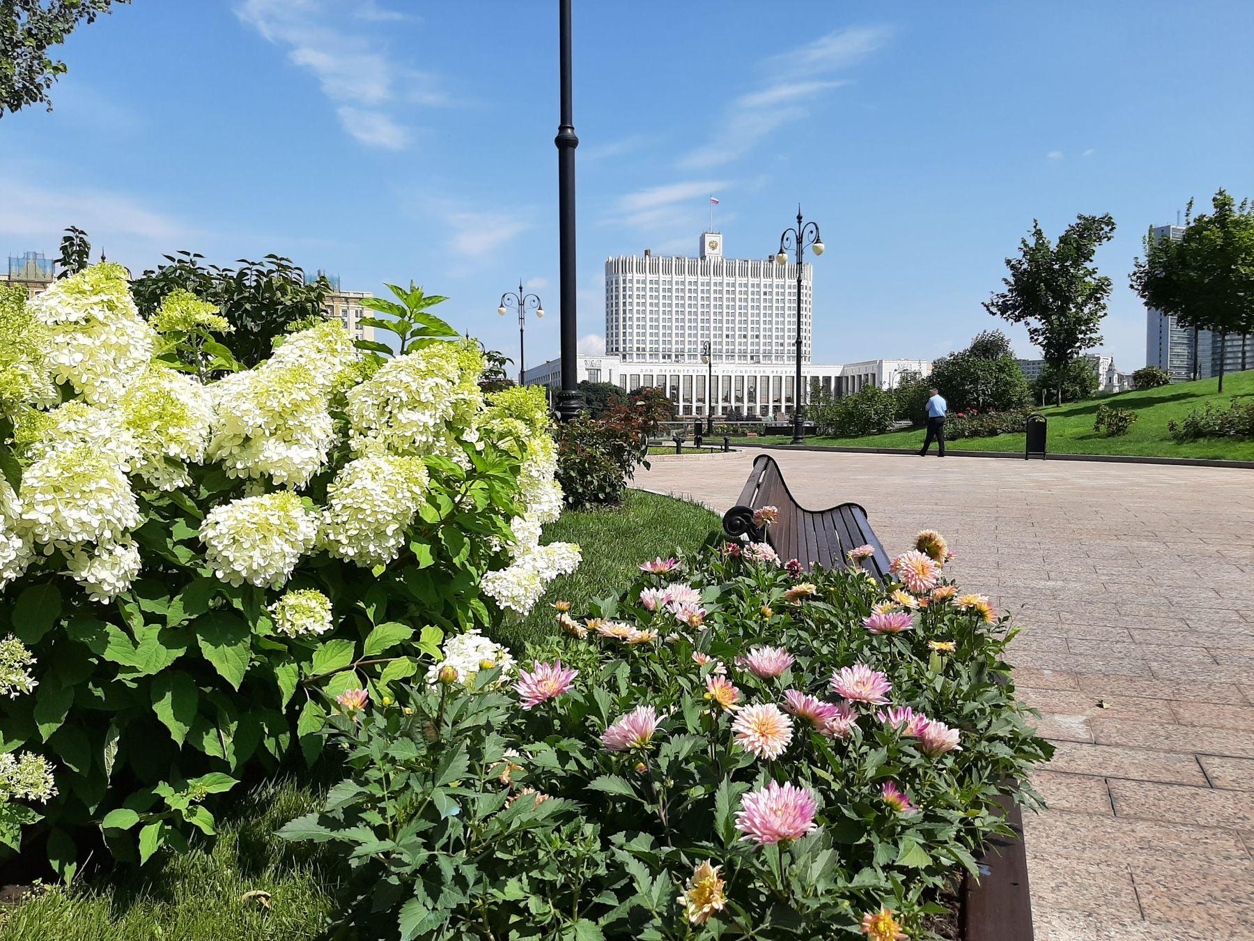 Вид на белый дом Правительство Российской Федерации