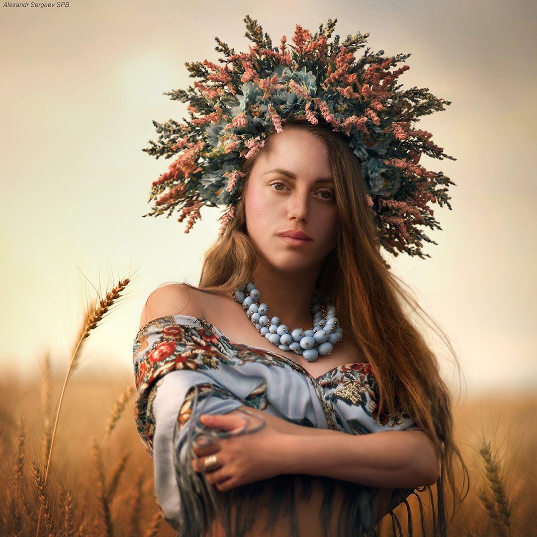 Лето девушка лето закат поле